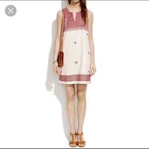 EUC Madewell stitch mosaic shift dress size size 8